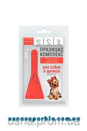 Празицид-комплекс для собак до 5 кг 1 пип. х 1 мл
