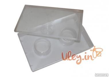 Годівниця квадратна з двома склянками 2,8 літра