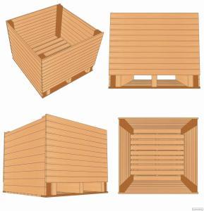Контейнер деревянный для чеснока (чесночный ящик) 1200х1200х1000