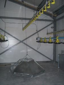 Обладнання для підлогового вирощування бройлерів ОПБ-1
