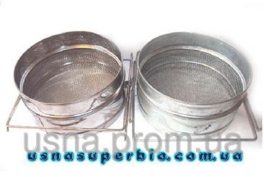 Фільтр для меду двосекційний оцинкований плоский (D-200 мм)