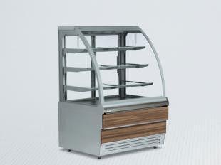 Витрина холодильная кондитерская 1,0м, золото LCC Carina-1,0