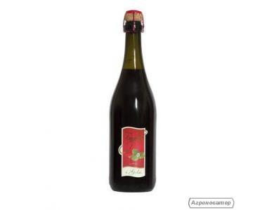 Червоне ігристе напівсолодке вино зі смаком суниці Fragolino iGelsi