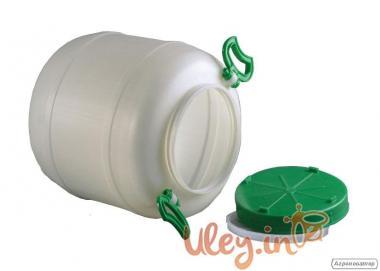 Бидон пищевой пластмассовый, 50 л. Горловина 220 мм. (сертифицированны
