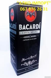Ром Bacardi Black Carta Negra, 2 L, 40 об. (опт, розница, дропшипінг)