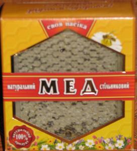 Стільниковий карпатський мед 250 грм (подарункова упаковка)