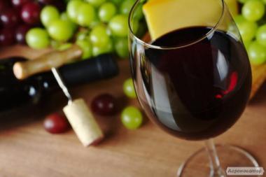 Вино сухое красное и белое