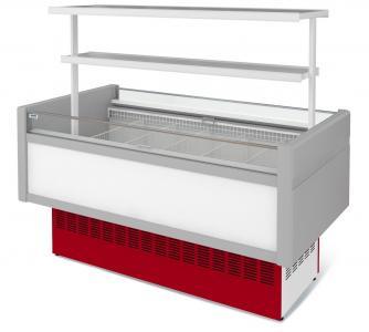 Низькотемпературна вітрина холодильна острівна ВХНо 1,8 Купець (боковини АБС з надстроикой.)