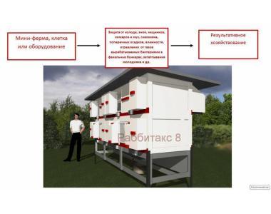 Клітини, міні-ферми, обладнання для кроликів