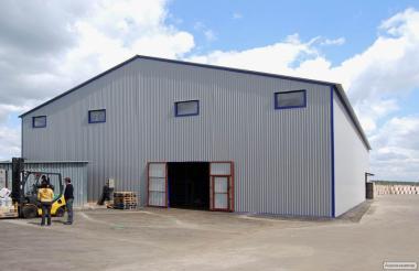 Каркасные ангары, склады, зернохранилища