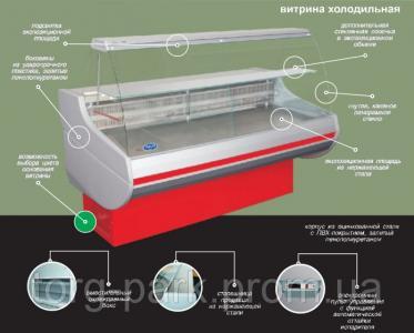 Холодильная витрина Siena (0,9/1,1) 1,0 1,2 1,5 1,7 2,0 Росс