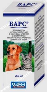 Барс зоошампунь антипаразитарный для собак и кошек Агроветзащита, Россия (250 мл)