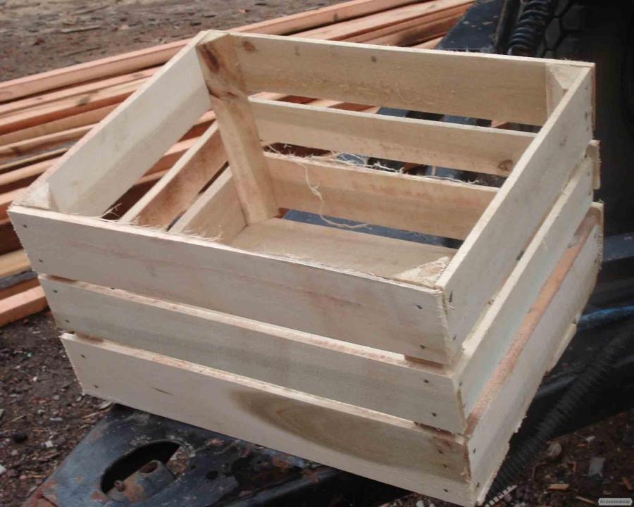 Ящик для яблук дерев'яний Польський Кубик