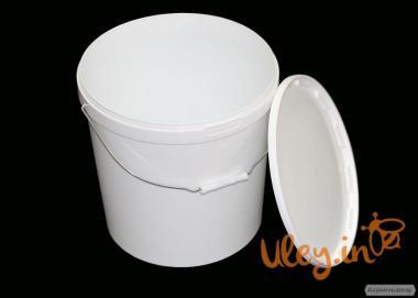 Ведро пластиковое (ЖЕЛЕЗНАЯ РУЧКА) с крышкой и защитной пломбой 20 л.