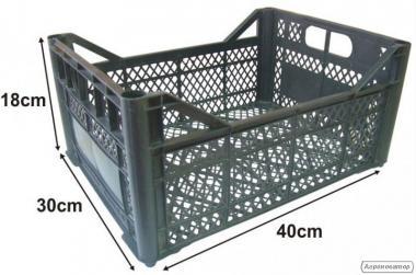 Ящик пластиковый б/у 40х30х18см для рассады, овощей, фруктов, грибов