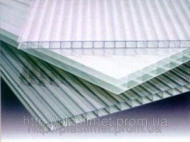 Полікарбонат сотовий (стільниковий) SOTON  прозорий  6000х2100х6мм