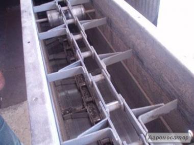 Ланцюгові скребкові конвеєри типу ТСЦ, К4-УТФ з зануреними скребками.