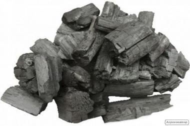 Древесный уголь из дуба, березы, акации и др твердых пород