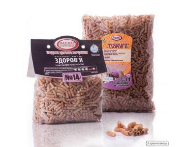 ДИЕТИЧЕСКИЕ макароны «ЗДОРОВЬЕ» №14 с семенами расторопши