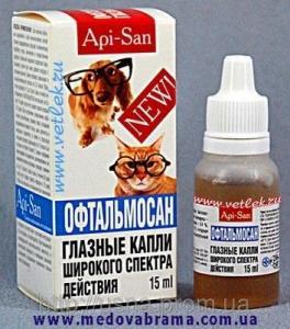Офтальмосан АПИ-САН, Россия - глазные капли широкого спектра действия (15 мл)