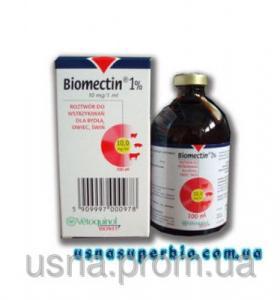 Биомектин 1% (ивермектин), 1 фл.х 100 мл