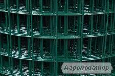 Сварная оцинк-я и в ПВХ покрытии сетка для вольеров,клеток,ограждений.