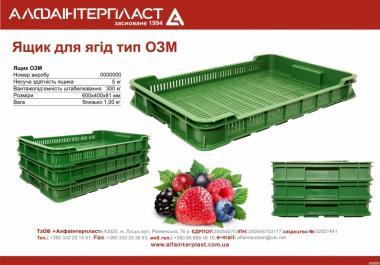 Ящик для ягід тип ОЗМ