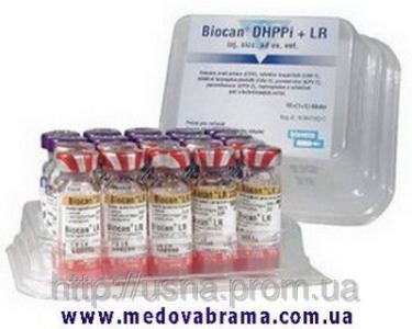 Биокан DHPPi+LR (Biocan DHPPi+LR), Биовета, Чехия (1 доза - 2 фл)
