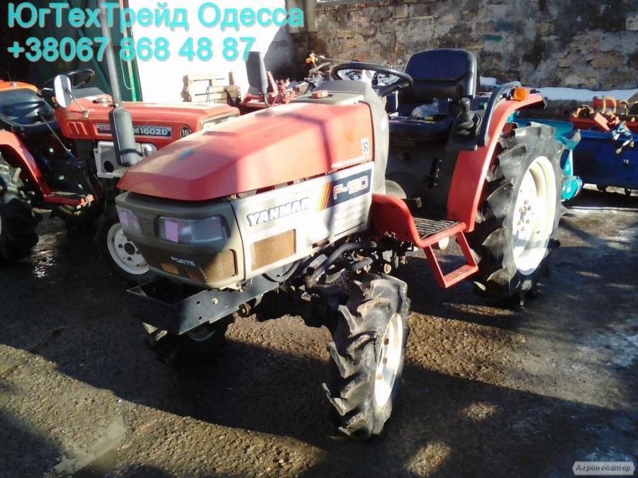 Японський міні-трактор Yanmar F180 з фрезою