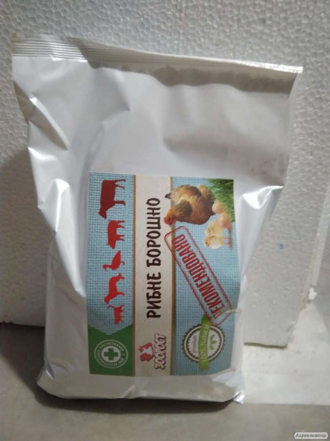 Рыбная мука прот. 52 % (пакет 1 кг.)