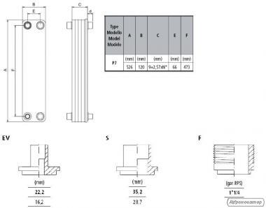 Пластинчастый теплообменник WTK P7-30EVF
