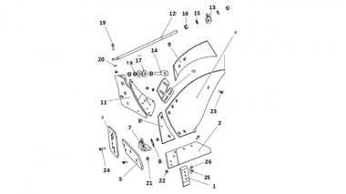 Запчастини корпусу плуга Unia, Довгий лівий