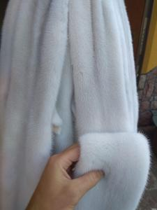 Мех белой норки
