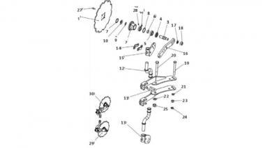 Запчастини для дискового сошника Unia B Ibis L, XM