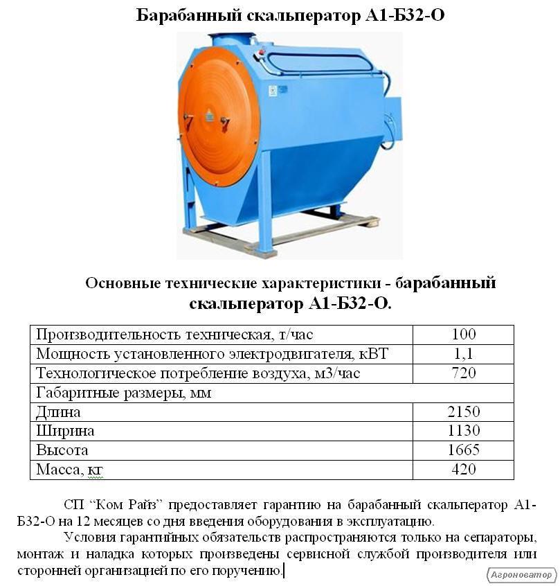 Барабанные скальператоры А1-Б32-О