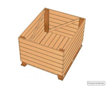 Контейнер дерев'яний (ящик для яблук) яблучний меблева вологість