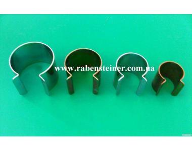 Металлический клипс для фиксации пленки на трубу диаметром 22/25/32/40 мм