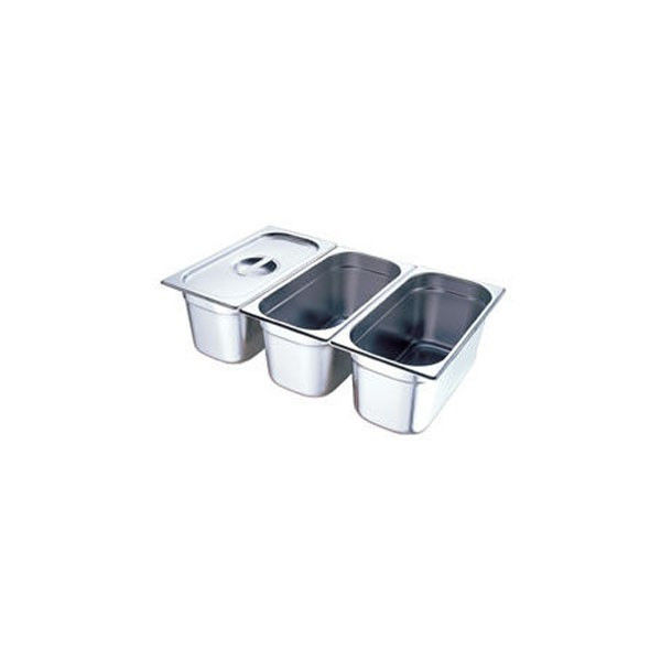 Поддон GASTRORAG 13100 GN 1/3-100 мм, емкость 3,5 л, нерж.сталь