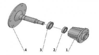 Маточина для зернової сівалки права Unia, Polonez 4M, Polonez 3/900