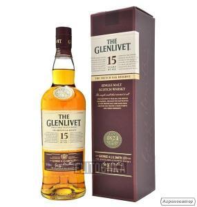 Виски Glenlivet 0, 7л, Гленливет 15 лет Френч О