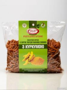 Макарони з Куркумою з твердих сортів пшениці 400г