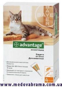 Капли от блох Адвантейдж 40 (Аdvantage) для котят и щенков до 4 кг