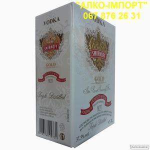 Оригинальная водка Smirnoff Gold 3 L тетрапак, оптом и в розницу