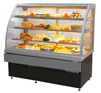 Витрина кондитерская холодильная 1м серебро LCC Carina-1,0