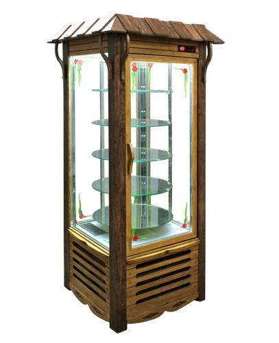 Холодильный шкаф ШХСДп(Д)-0,5 «АРКАНЗАС R» Украинский стиль (кондитерский)