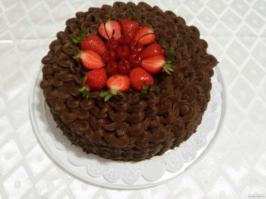 Шоколадные торты на заказ в Киеве