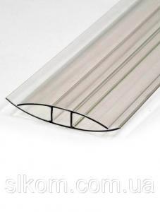 Профіль з'єднувальний Н-подібний, прозорий, 4-6 мм