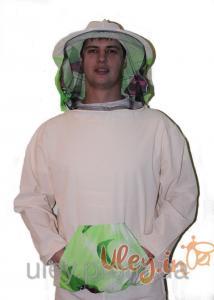 Куртка бджоляра бязева з маскою