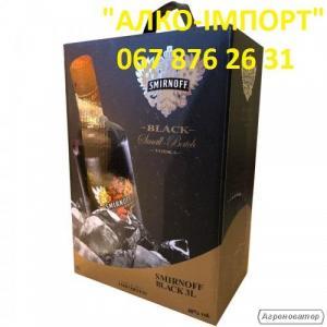 Водка Smirnoff Black, 3 L, 40 об. (опт, розница)