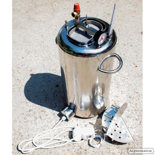 Автоклав электрический, огневой на 30 л (21 банка 0,5л). Нержавейка